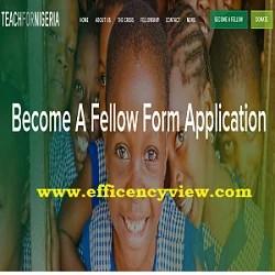 Teach for Nigeria Recruitment Application Registration Form out 2020/2021