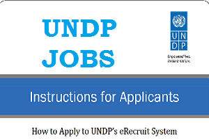 Steps guide to apply/register successfully for UNDP eRecruitment Job Portal