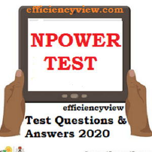 Npower Recruitment Past Questions and Answers NPWR2020