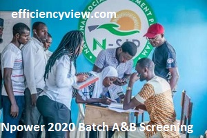 Npower Exit Volunteers Screening Exercise ongoing for Batch A & B 2020