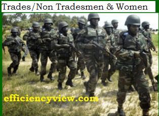 Nigerian Army Recruitment Link Portal for new intake Trades/Non Tradesmen & Women 2020/2021