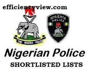 Nigeria Police Force PSC Shortlisted Candidates for CBT Test Screening 2020-2021