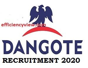 Dangote Group Recruitment October/November 2020 apply here