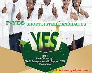 PYES List of Shortlisted Names 2020/2021 latest update