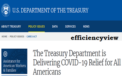 Link to apply for 2021/2022 United State of America COVID-19 Relief Fund via USA Treasury Department Portal