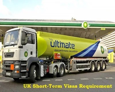 UK Short-Term Visas Requirements for Fuel Tanker Drivers 2021/2022
