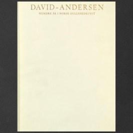 David-Andersen, 100 år i Norsk Gullsmedkunst (100 years in Norwegian Goldsmithry)