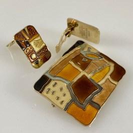 Set of brooch and earrings by Thorbjørn Lie-Jørgensen