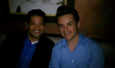 Guests Ellys Cortez, Prudential Beverly Hills (left) and Scott Palmason, Concrete Hero.