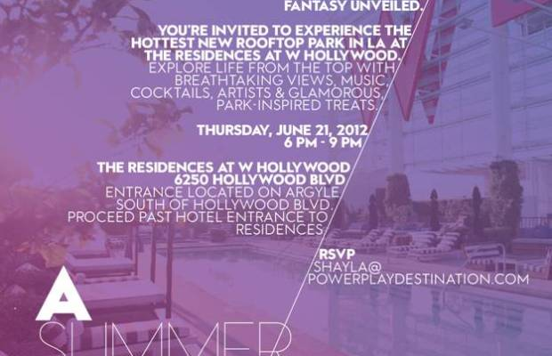 A Summer Night's Dream, Rooftop Party Poster
