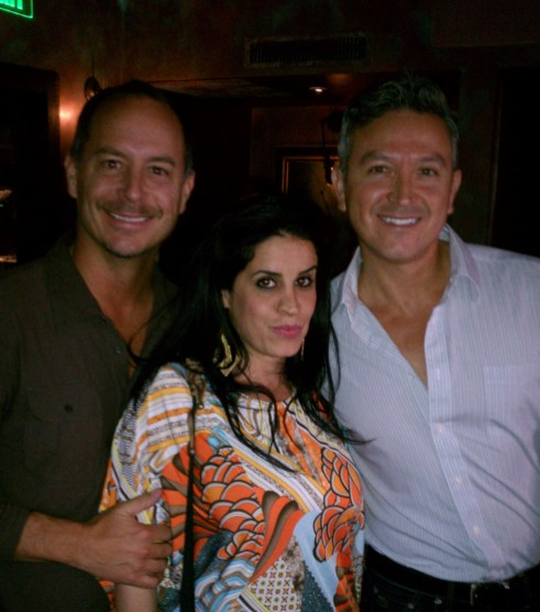 Guests (left to right) Richard Burl, Karima Hawa and Lucio Bernal, Prudential Realty Beverly Hills.