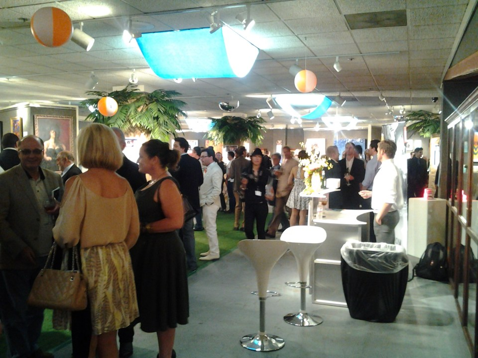 Mingling Art Enthusiasts; Art Poject Los Angeles 2012