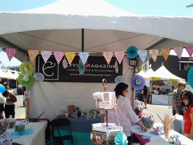 Effie Magazine Booth at the 19th Annual Los Feliz Village Street Fair; Contributing Medical Advisor, Crystal Cantu