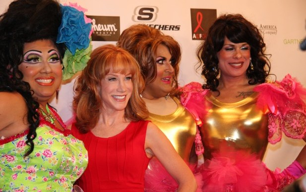 Kathy Griffin and Kay Sedia on Best in Drag red carpet