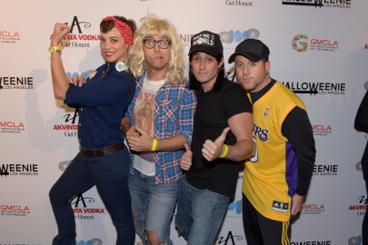 (L to R) Guest, Lance Bass, Michael Turchin, Guest