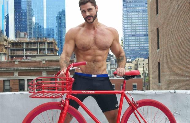 Jack Mackenroth with Martone Red Bike