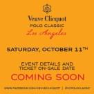 Veuve Clicquot Polo Classic coming soon!