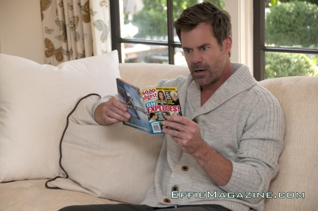 EffieMagazine.com Photo of Tuc Watkins reading Soap Opera Digest