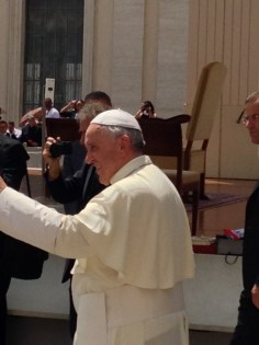 Pope Francis After He Smiled & Turned Away