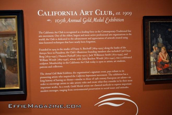 Effie Magazine, California Art Club, The Autry Museum, Griffith Park, Pasadena