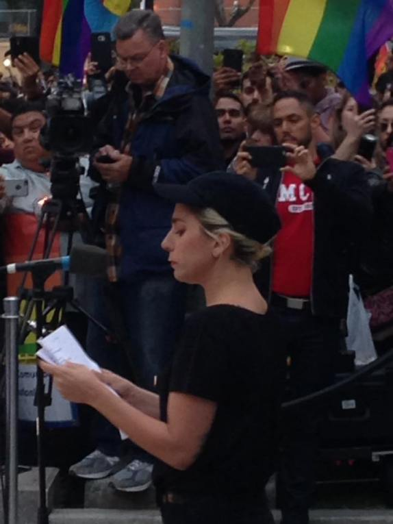 Lady Gaga Reads Victims Names