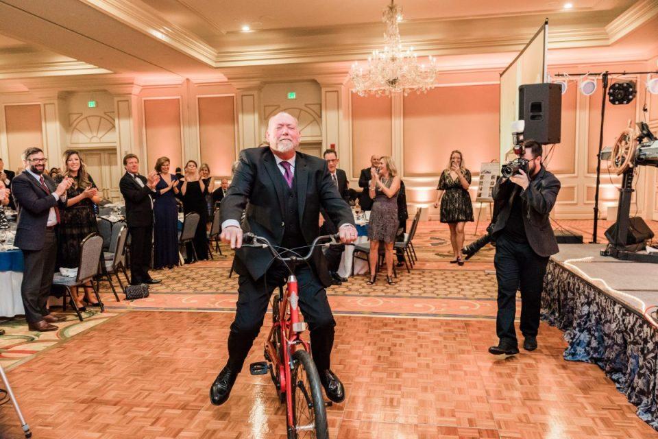 TIM Estes on the bike
