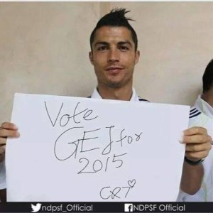 Cristiano Ronaldo Joins President Goodluck Jonathan Supporters
