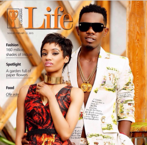 Patoranking & Di'Ja On The Cover of The Guardian Life