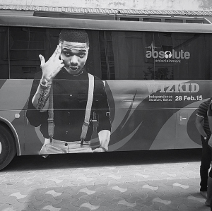 Wizkid Shows Off Bus Ads For His Gambia Concert
