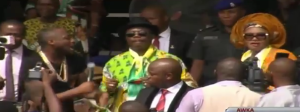 Davido perform at APGA rally while Governor Obiano and Wife Dance (Video)