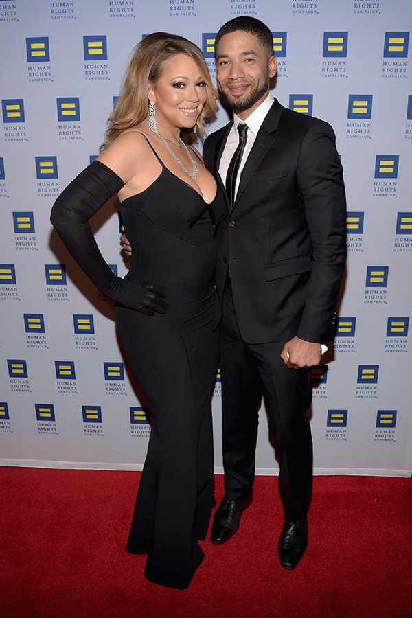 Mariah Carey with Jussie Smollett