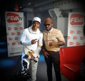 Mario and Jim Iyke Chilling Backstage (Photo)