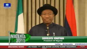 Prsident Goodluck Jonathan Concession Speech on the Election (Video)