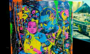 Chris Brown shows off Impressive Portrait of Himself and Daughter, Royalty (Photos)