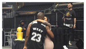 Kanye West and Kim Kardashian share a Loving Kiss as he celebrates his 38th Birthday (Photos)