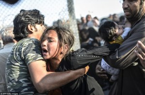 Gates of Hell: civilians flee to enter Turkey as kurdish forces closes in on ISIS held border