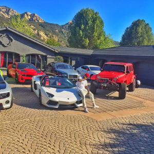 LA Rapper, The Game, shows off his Expensive cars (Photos)