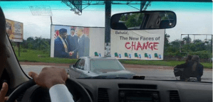 Look at how Imo State Governor Rochas Okorocha, is wasting public money on billboard poster (Photos)
