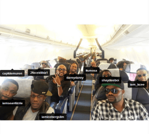 See Nigerian Artistes heading to MTV Music Awards in South Africa (Photos)