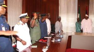 Buhari Meets New Service Chiefs, Tasks Them To Restore Nigeria's Armed Forces Reputation (Photos)