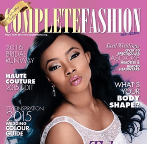 Toke Makinwa graces the Cover of Complete Fashion Magazine (Photo)