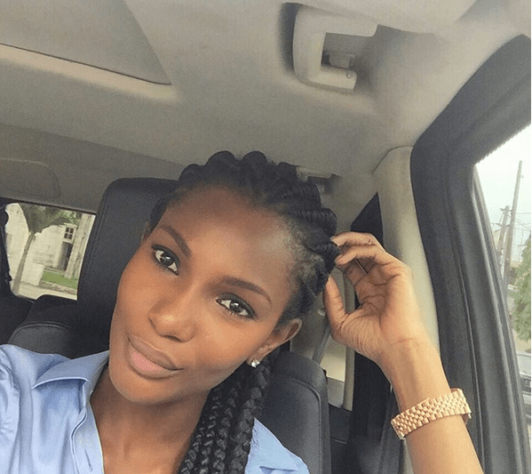 Agbani Darego shares her beautiful face (Photo)