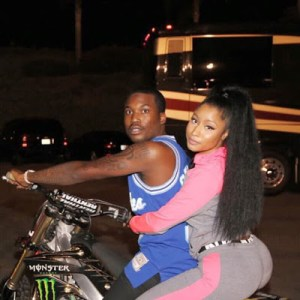 Nicki Minaj and Meek Mill enjoy bike ride (Photos)