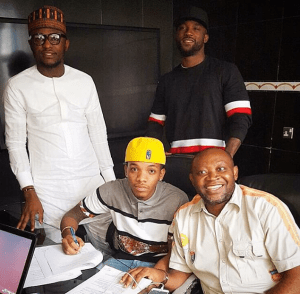 Triple MG Artiste, Tekno Officially Sign New Deal With MTN (Photo)