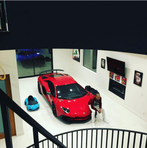 Chris Brown Parks His Lamborghini Car in His Living Room (Photos)
