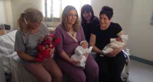 Three Irish sisters give birth on same day in same hospital