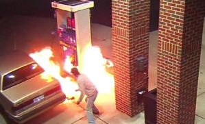 Man accidentally sets gas station on fire trying to kill spider (Photo + Video)