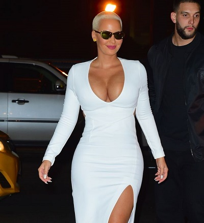 , Amber Rose stuns in white (Photos), Effiezy - Top Nigerian News & Entertainment Website