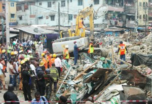 Grandmother rescued from a collapsed three-story building dies