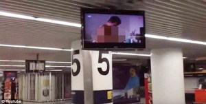 Lisbon Airport Accidentally Plays Porn On Big TV Screens For Shocked Passengers (Video)